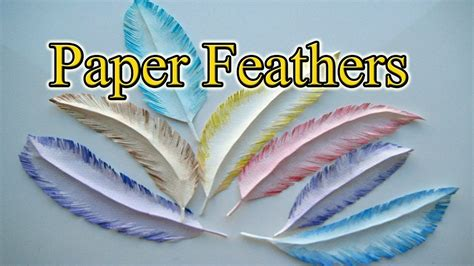 How To Make A Paper Feather - how to make a paper feather in 5 minutes gift wrapping