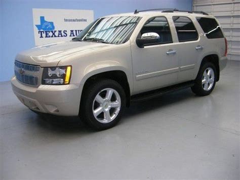 sell used we finance 2008 chevrolet tahoe lt 4x4 flex fuel automatic 3rd row tow xm in