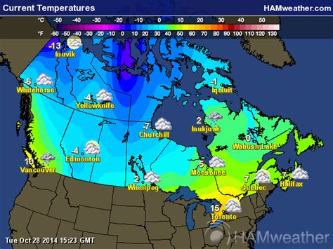 weather map usa and canada canadian weather maps