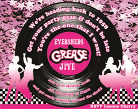 Grease Rydell High School Wall Cards Pinterest High School School And Grease Party Grease Invitation Template