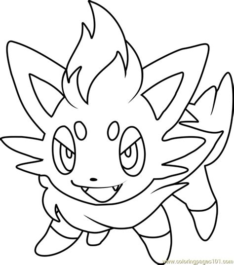 pokemon coloring pages of zorua zorua pokemon coloring page free pok 233 mon coloring pages
