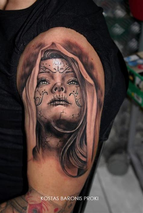 santa muerte tattoo la de muchas caras the many faces of santa muerte