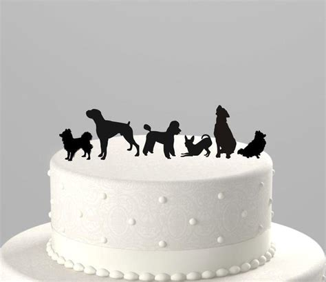 puppy cake topper add a pet cake topper silhouette acrylic cake topper ctpd 2172112 weddbook