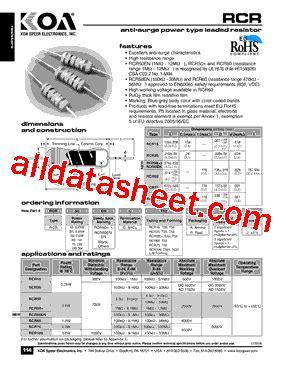 rcr resistors datasheet rcr resistors datasheet 14 images rcr875dnp 2r3l sumida mouser rcr25c datasheet pdf koa