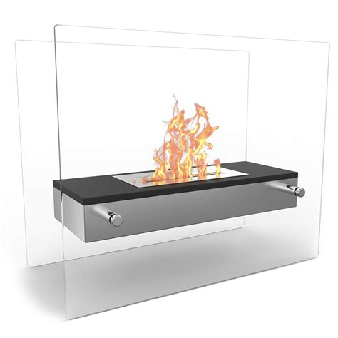 Portable Bio Ethanol Fireplace by Vista Tabletop Portable Bio Ethanol Fireplace In Black