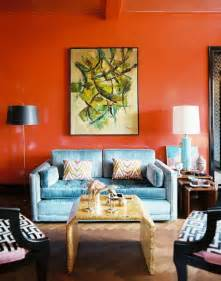 Blue And Orange Living Room by Bright Living Room Paint Colors Easy Home Decorating Ideas