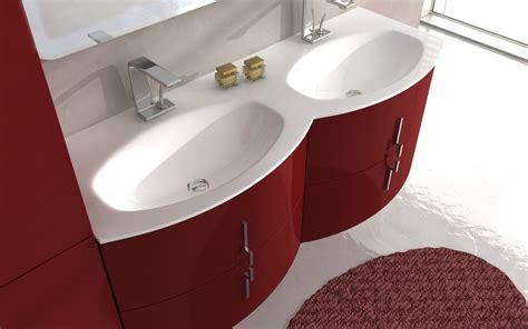 lavandino doppio bagno arredobagno sting 138 cm in 4 colori con doppio lavabo in