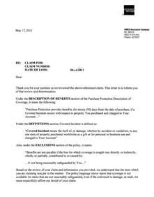 Insurance Denial Letter Template Letter Explaining Denial Of Insurance Claim Templates