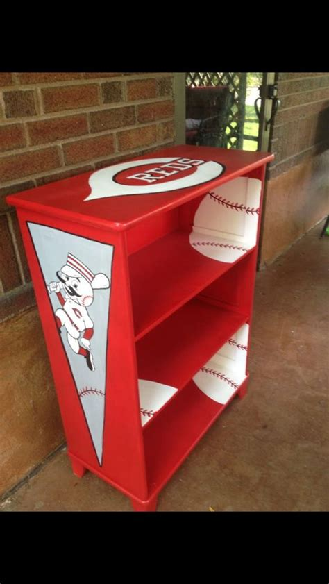 cincinnati reds bedroom cincinnati reds theme hand painted book shelf jami