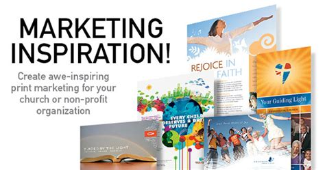promotional postcard template church non profit marketing inspiration 171 graphic