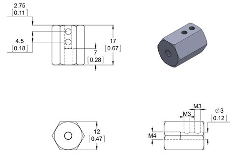 Axe Hexagonal Hex Shaft As Roda As Tamiya Mini 4wd As Tamiya pololu 12mm hex wheel adapter for 3mm shaft 2 pack