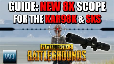 pubg 8x scope guide epicamazing guide how to use the new 8x scope for the