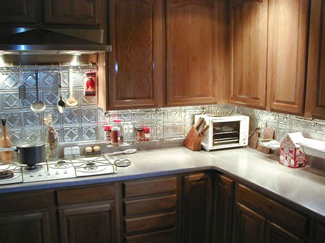 aluminum backsplash photos of kitchens with metal backsplashes aluminum copper