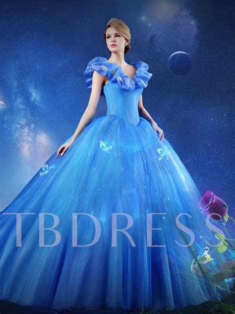 what color is cinderella s dress the shoulder gown butterfly cinderella dress