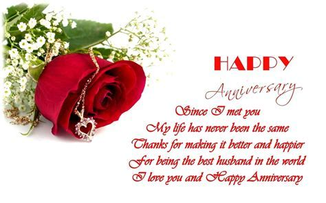 Husband Wedding Anniversary Verses   Card Verses