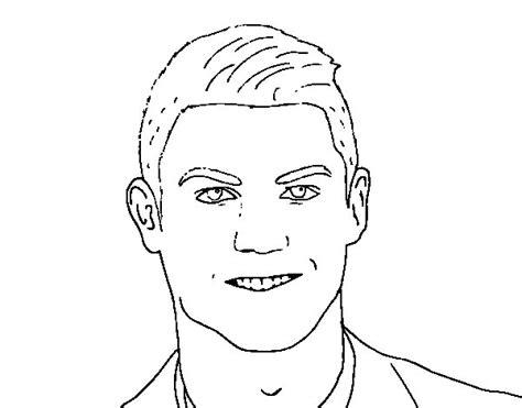 colorear a cristiano ronaldo imagenes dibujo de cristiano ronaldo cara para colorear dibujos net