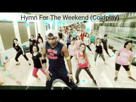 coldplay zumba hymn for the weekend zumba 174 cooldown by clemence youtube
