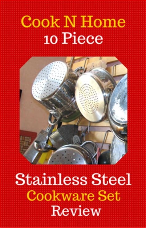 cook n home 10 stainless steel cookware set review