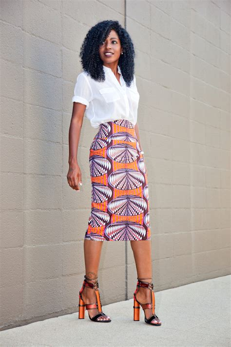 Style Pantry by Safari Style Shirt Printed Pencil Skirt Style Pantry