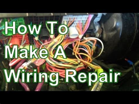 how to fix and repair automotive wiring harness
