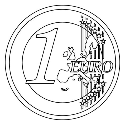 Coloring Pages Euro | clip art euro 1 cent color abcteach