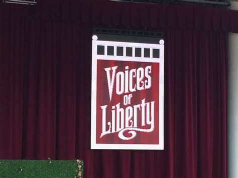 the new voice of liberty the voice of liberty voices of liberty step outside to the american gardens