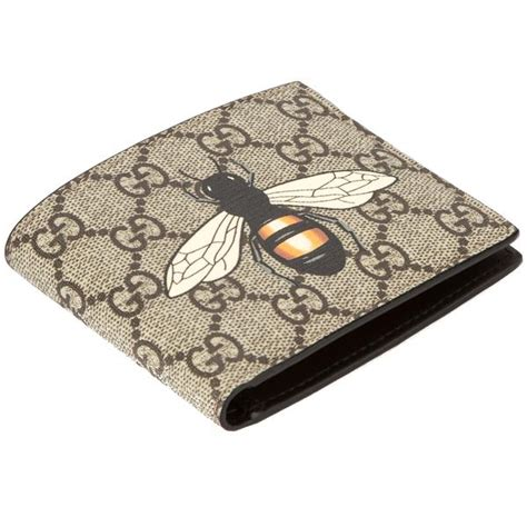 gucci gg supreme canvas bee print wallet new with tags 3544010 luxedh