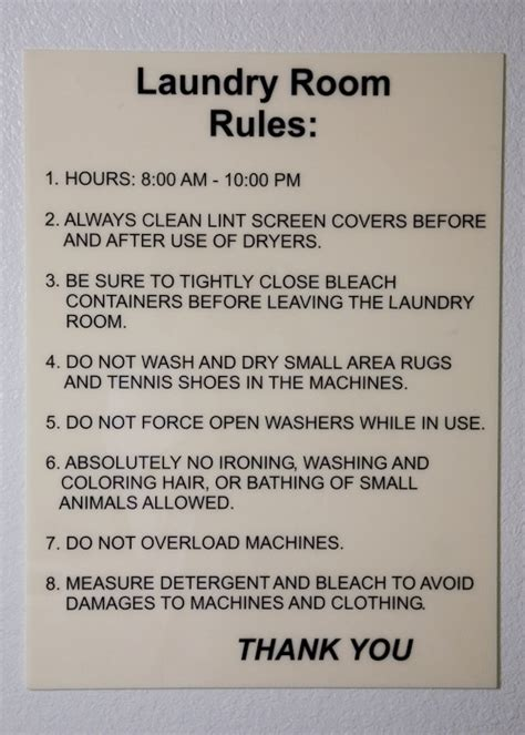 laundry room etiquette signs shaycam laundry