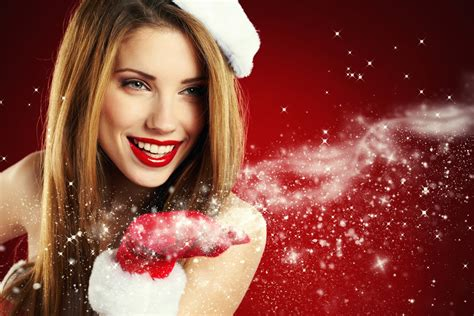 girl with brown hair in snow girl brown hair the snow maiden new year holiday smile