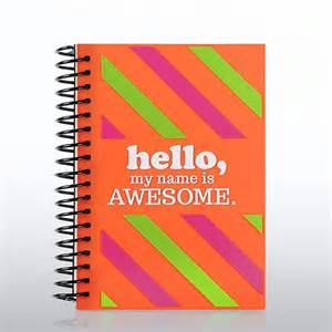 soft cover journal hello my name is awesome at