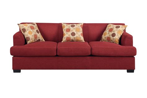 red fabric sofa poundex montreal iv f7963 red fabric sofa steal a sofa