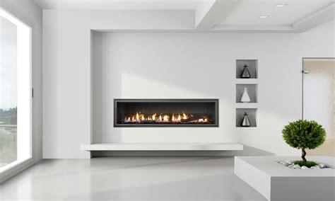mezzo modern fireplace design wide gas