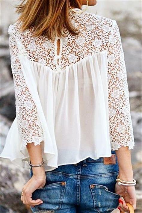Jumpsuit Korea Chiffon Hitam Renda Import 17 best images about blouses on chiffon shirt oscar de la renta and valentino