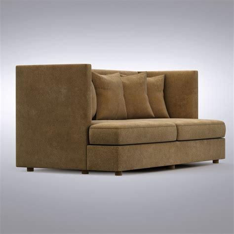 shelter sofa 3d crate barrel shelter model