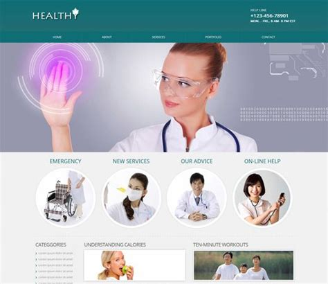bootstrap templates for hospital hospital doctor bootstrap website template free download