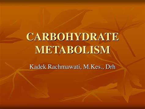 carbohydrates metabolism ppt carbohydrate metabolism powerpoint presentation id