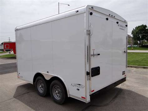 white 8 5 x 12 enclosed landscape trailer for local