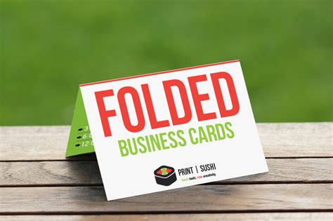 4 X 3 5 Folded Business Card Template by Folded Business Cards
