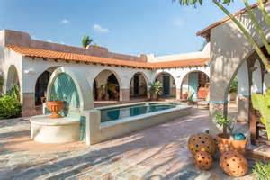 Spanish Home Plans With Courtyards hacienda style centered around a fountain courtyard