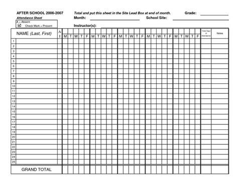 blank attendance sheets class attendance sheets get as