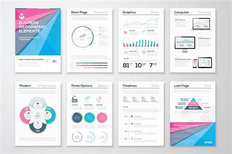 infographic brochure template infographic brochure elements 7 illustrations on