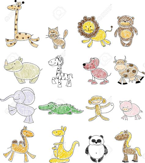 doodle animal drawings tag how to draw animals step by step for beginners