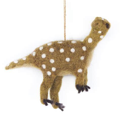 Handmade Dinosaur - handmade fairtrade felt dinosaur prehistoric dino hanging