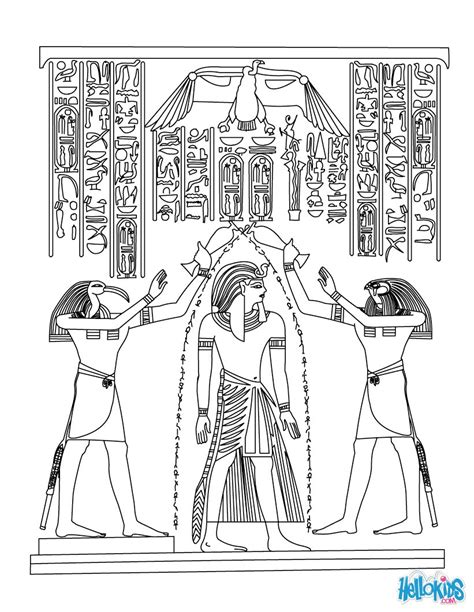 printable egyptian art egyptian papyrus painting coloring pages hellokids com