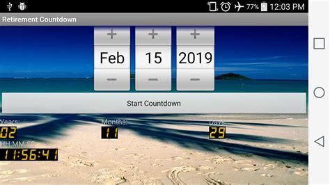Countdown Calendar App Timer Calendar Retirement Calendar