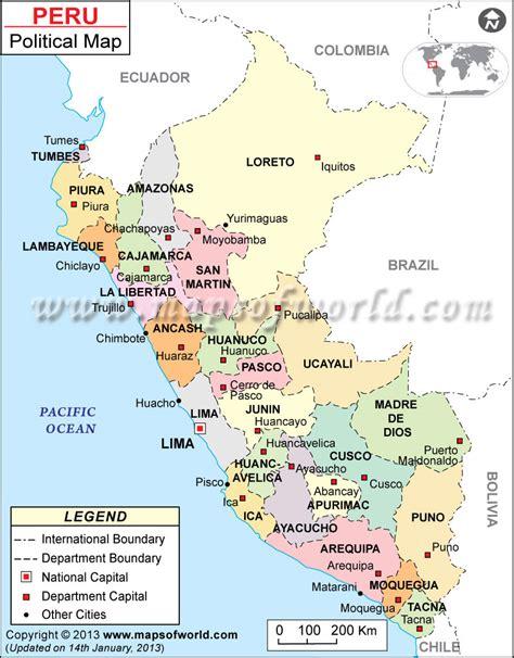 peru political map peru