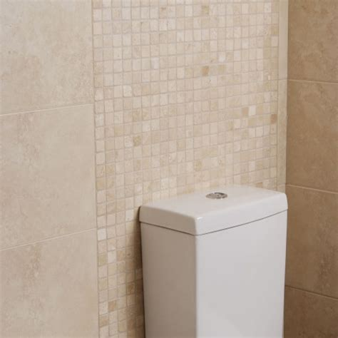 tumbled travertine bathroom white travertine tumbled mosaic tile