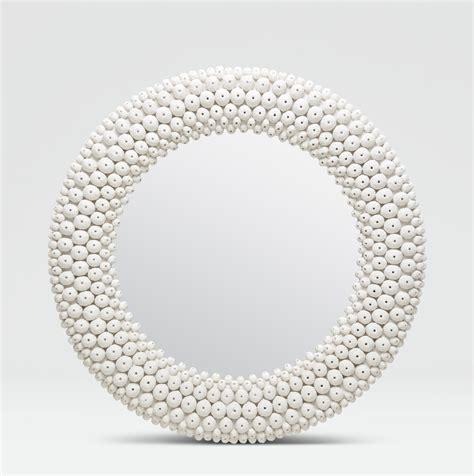 Bedroom Furniture Dallas round white sea urchin mirror mecox gardens