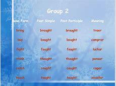 Irregular verb groups Luchar Meaning