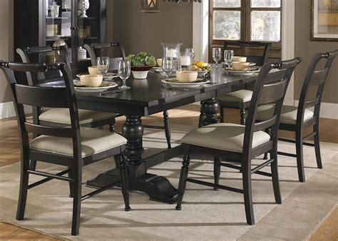 dining room table set 7 piece trestle dining room table set by liberty furniture